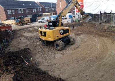 Grondwerk nieuwbouw Arnhem